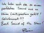 Nigdy jeszcze nie syszałem tak perfekcyjnego dźwięku z głośników. Gratulacje! Najlepsze na całej wystawie! - relacja z   World HIGH END AUDIO  SHOW w Monachium