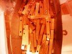 złocone 24 karatowym złotem  elektrody